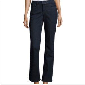 NYDJ dark wash boot high waist jeans size 10